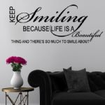 KEEP SMILING Word Art~ Wall sticker / decals